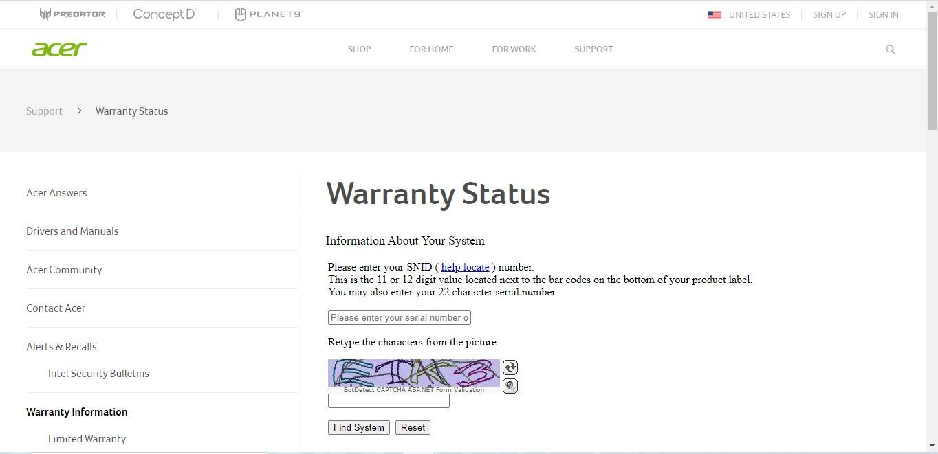 How To Check Acer Laptop Warranty By Using Official Website Of Acer