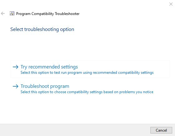 application_error_0xc000007b_in_windows_10_compatibility_troubleshooter_options