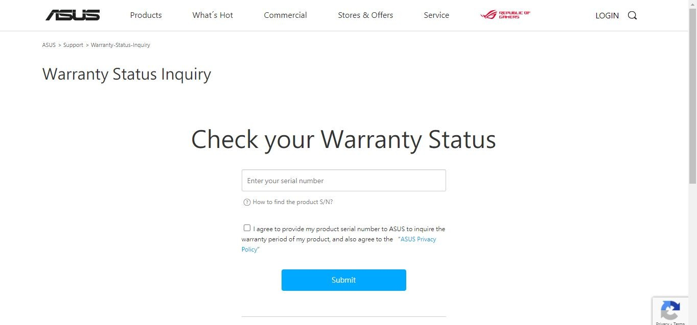 How To Check Warranty of ASUS Laptop By Visiting The ASUS Support Page